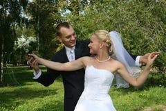 Glückliches geheiratet Stockfotografie