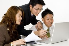 Glückliches Geschäfts-Team Stockbild