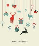Glückliches hängendes Weihnachtsset Lizenzfreies Stockfoto