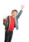 Glückliches Jungenwellenartig bewegen Lizenzfreie Stockfotos