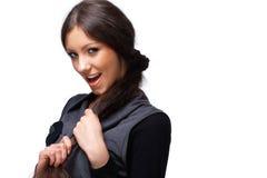 Glückliches junges Mädchen. Stockbilder