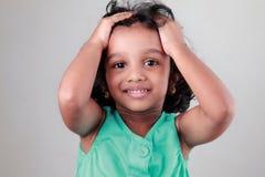 Glückliches kleines Mädchen Stockbilder