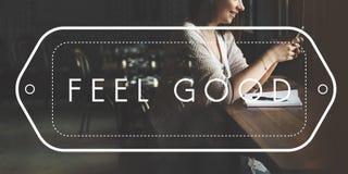 Glückliches Leben-Gefühl-gutes Glück Live Concept Stockfoto