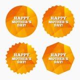 Glückliches Mothers& x27; s-Tageszeichenikone Muttersymbol Stockfotografie