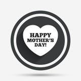 Glückliches Mothers& x27; s-Tageszeichenikone Muttersymbol Stockfoto