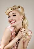 Glückliches Porträt des Mädchens Pin-oben Stockfotos