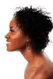 Glückliches Schönheitsgesicht von der Seite Lizenzfreies Stockbild
