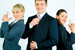 Glückliches Team Lizenzfreies Stockbild