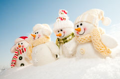 Glückliches Winterteam Lizenzfreie Stockfotos