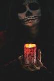 glöda för stearinljus Fotografering för Bildbyråer