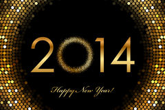2014 glödande bakgrund för lyckligt nytt år 2014 Royaltyfria Bilder