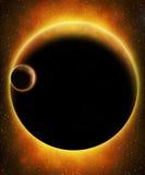 Glödande främmande planet Royaltyfri Fotografi
