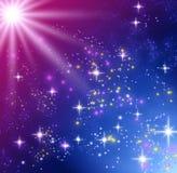 glödande stjärnor Arkivbild