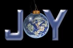 glädje till världen Arkivfoto