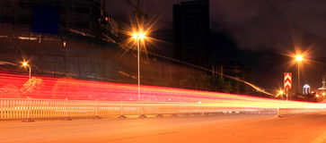 Gleaming city scenery. Urban construction, colorful night, lights flashing, bright and charming Stock Photos