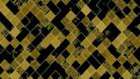 Gleaming squares in yellow and black. In backgrounds stock footage