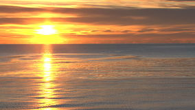Gleaming sunset on beach stock video