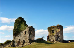 Gleaston城堡, Cumbria看法  库存图片