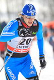 Gleb Retivikh - ski sprint skier Royalty Free Stock Photography
