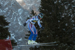 GLEBOV Alexander (RUS). VAL GARDENA, ITALY - DECEMBER 21:  GLEBOV Alexander (RUS) races down the Saslong competing in the Audi FIS Alpine Skiing World Cup MEN'S Stock Images