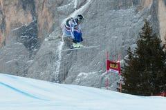 GLEBOV Alexander (RUS). VAL GARDENA, ITALY - DECEMBER 21:  GLEBOV Alexander (RUS) races down the Saslong competing in the Audi FIS Alpine Skiing World Cup MEN'S Royalty Free Stock Photo