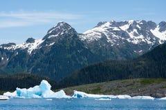 Gleczeru lód w książe William dźwięku Zdjęcia Stock