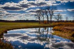 Gleczeru park, Ringwood, IL W jesień odcieniach Obrazy Stock