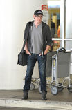 Glee actor Cory Monteith at LAX airport. Royalty Free Stock Photo