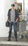Glee actor Cory Montieth at LAX airport Stock Photos