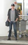 Glee actor Cory Montieth at LAX airport. LOS ANGELES-APRIL 30: Glee actor Cory Montieth at LAX airport. April 30 in Los Angeles, California 2011 Stock Photos