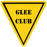 Glee Club Triangle Sign Royalty Free Stock Image