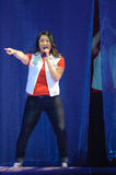Glee Tour. Sacramento, CA - MAY 23: Jenna Ushkowitz performs at the Glee Live! In Concert! tour at the Power Balance Pavilion on May 23, 2011 in Sacramento royalty free stock image