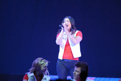 Glee Tour. Sacramento, CA - MAY 23: Jenna Ushkowitz perform at the Glee Live! In Concert! tour at the Power Balance Pavilion on May 23, 2011 in Sacramento stock photo