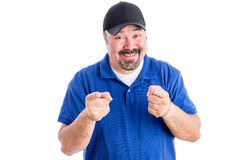Gleeful happy man pointing at the camera Stock Image