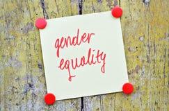 Gleichberechtigung der Geschlechter lizenzfreies stockfoto