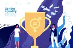 Gleichberechtigung der Geschlechter-Konzept Gleiche Rechte und Gelegenheiten zwischen Männern, Frauen Feminismusbewegung zum Gesc stock abbildung