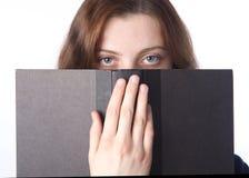 Die Augen und das Buch Lizenzfreie Stockfotos