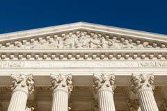 Gleiche Gerechtigkeit Under Law (Text an der Front des Obersten Gerichts von U S etwas körniges) Stockbild