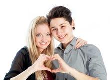 Gleichgeschlechtliche Paare lokalisiert auf weißem Hintergrund Lizenzfreies Stockfoto