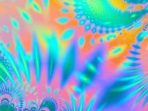 Gleichheit gefärbte tropische Muster stock abbildung