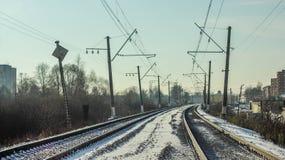 Gleis Stockfotografie