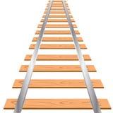 Gleis auf weißem Hintergrund Lizenzfreies Stockfoto