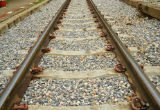 Gleis für Serie stockbild