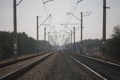 Gleis in Ukraine Lizenzfreies Stockbild