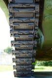 Gleiskettenfahrzeug des Beckens Stockfotos