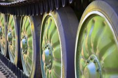 Gleiskettenfahrzeuge APC-50 Stockfotografie