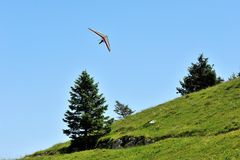 Gleitflug deltaplano Lizenzfreies Stockbild