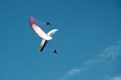 Gleitschirmfliegen Stockfotografie