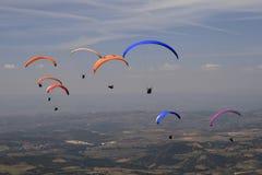 Gleitschirmfliegen, Bornes, Portugal Lizenzfreies Stockbild