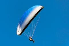 Gleitschirmfliegen an Punkt Poo Poo im Gebirgstiger, Issaquah, Washington, US Stockfotos